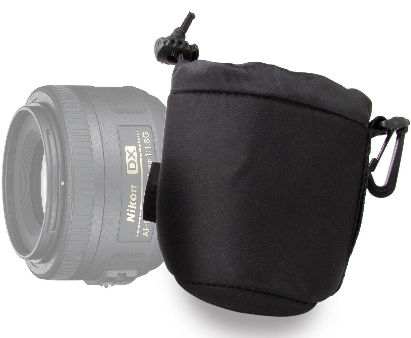 Small Padded Lens Case For Pentax Smc Da 18 55mm 50mm F Cap 3rd Lenses