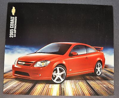 2005 Chevrolet Cobalt SS Supercharged Sales Brochure Sheet Excellent Original (Chevrolet 2005 Cobalt Ss Supercharged)