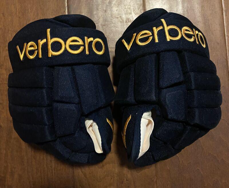Pro Stock  Verbero Hockey Gloves Sizes 13 Dark Blue/Gold