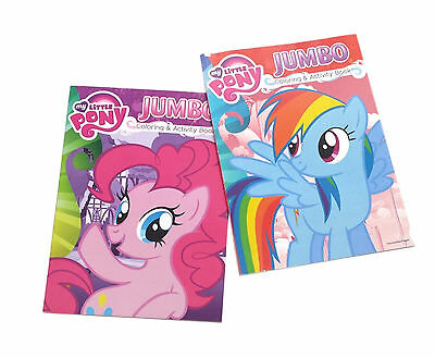 NEW Set of 2 MLP My Little Pony Friendship Kids Coloring Book Activity Books Set
