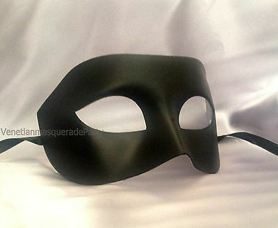 Mask For Boys (Black White mens masquerade eye mask for man boys simple classic costume)