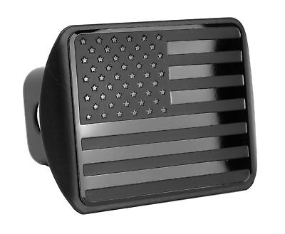 USA Stainless Steel Flag Metal Trailer Hitch Cover fit 2