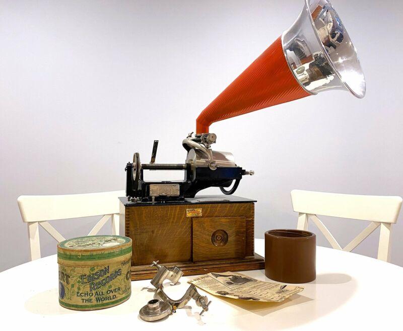 Edison Concert Phonograph, Late 1800