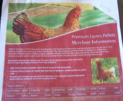 LAYERS PELLETS 20kg £8.10 COLLECT ONLY BD14 6DW