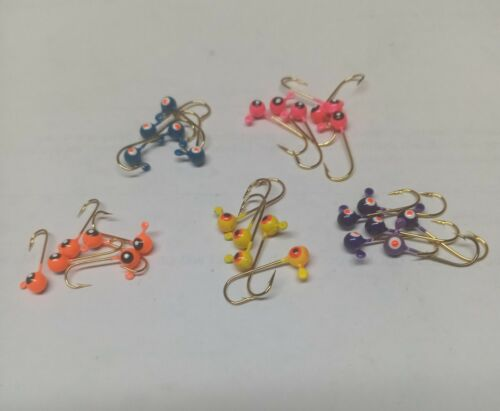 1/64 oz jig heads you choose  color& quantity ( made with mustad hooks)
