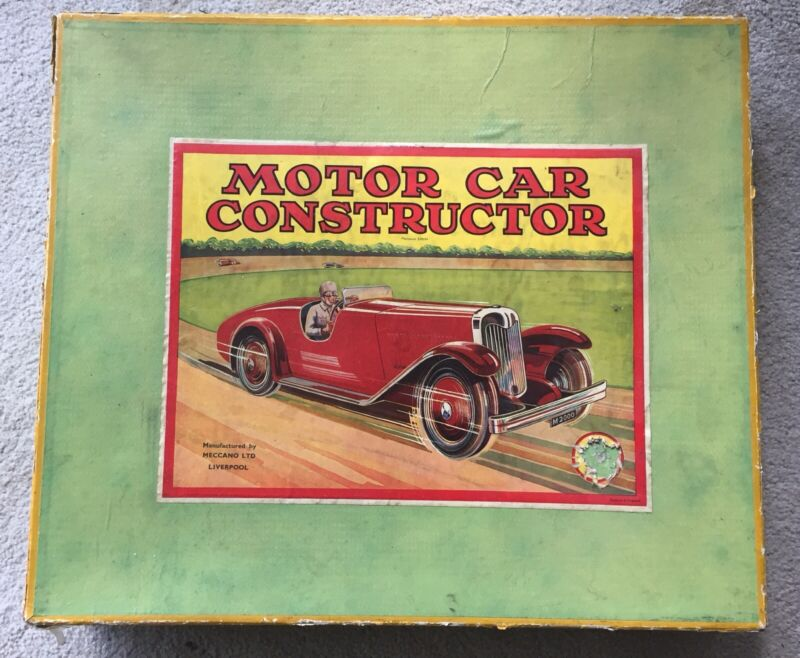 Meccano Motor Car Constructor #2 BOX ONLY C.1938