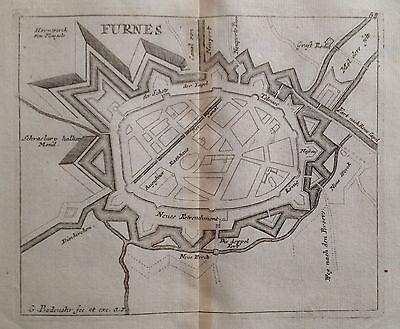 Veurne 1725 stadsplan vesting Bodenehr