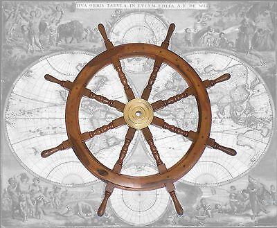 Hochwertiges Steuerrad, Schiffssteuerrad aus Hartholz, 94cm Durchmesser
