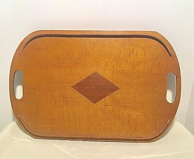 Antique/Vintage Wooden Butlers Tea Serving Tray 1939 Stamped W.L. Tabb Patented