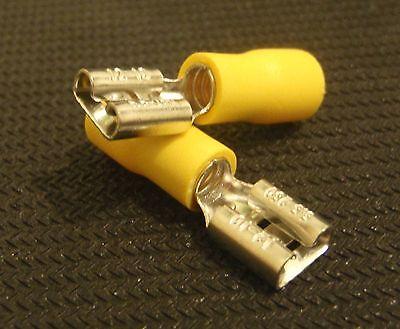 100 Pc Female Spade Wire Crimp 12-10 Awg .250 Connector Fdd5.5 -250