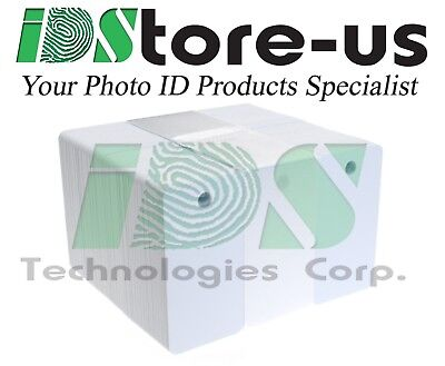 100 Blank White 3-UP Breakaway Keytag PVC Cards, CR80, 30 Mil, Graphics Quality