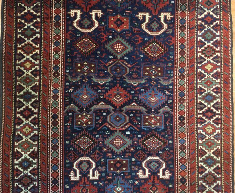 Classic Caucasian - 1880s Antique Kuba Rug - Tribal Oriental Carpet - 4.8 X 7.9