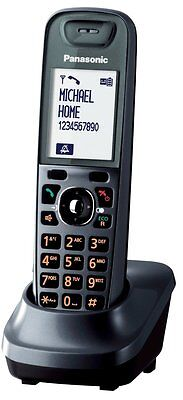 Panasonic KX-TG7521 KX-TG7511 Additional Handset Cordless Phone Metallic Grey