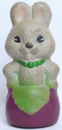 Vintage Original Soviet Bunny Russian Rubber Toy Doll USSR