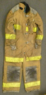 Firefighter Set Jacket 46x40 Pants 42x26 Suspenders Turn Out Gear Janesville S46