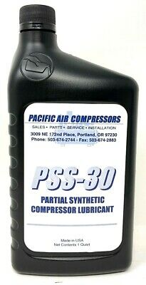 Air Compressor Oil 1 Quart Of Non Detergent Partial Synthetic