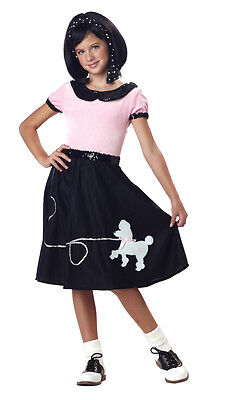 50's Hop Pink Poodle Skirt Child Costume - 50 S Costumes