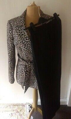 Kasper Ladies Suit, Leopard , Size 18, Chic Trouser Suit