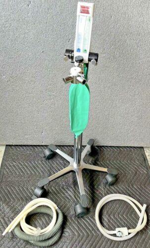 Porter MXR 3000-OS Dental Oral Surgery Nitrous Oxygen Flowmeter Cart W/ Hoses