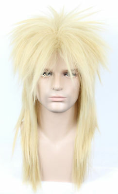 For Cosplay David Bowie Wig 80s Mullet Disco Rock Retro Cosplay Heavy Metal Fan - Bowie Wig
