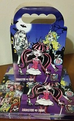 Monster High Treat Favor Bags Boxes *SET OF 10* Loot Goody Bags Party - Monster High Favors