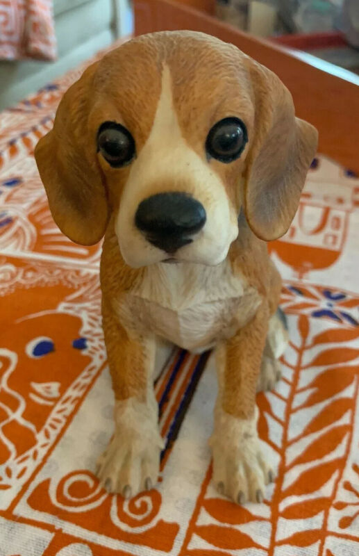 "VTG Gorham Beagle Dog Natures Gallery Ceramic Figurine 5.5"" Japan"