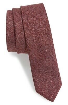 TOPMAN Mens Burgundy Speckle Slim Tie 133636