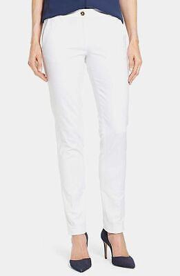 NWT Michael Kors Petite Solid White Miranda Skinny Pants Slim Fit Cotton 6P 10P