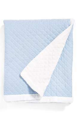 "Levtex Quilted Throw Blanket Blue Chambray One Size 50""x60"" *New Free Shipping*"
