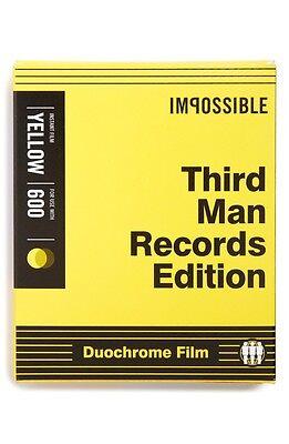 Impossible Third Man Records Black & Yellow Duochrome Polaroid 600 Film PRD4158