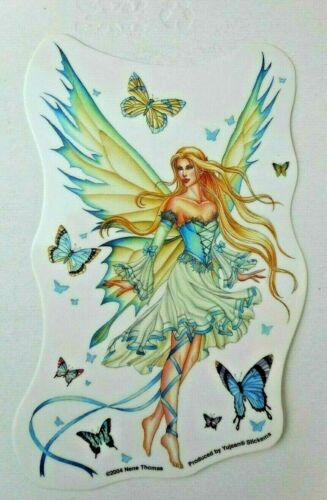 "Blonde Butterfly Fairy  Decal Sticker 4.1/4"" x 6"""
