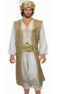 Adult Aladdin Costume Mens Aladin Desert Prince Sultan Genie - Arabian Costume For Men