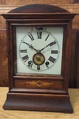RARE ANTIQUE W & H SCH WINTERHALDER & HOFMEIER BLACK FOREST BRACKET CLOCK