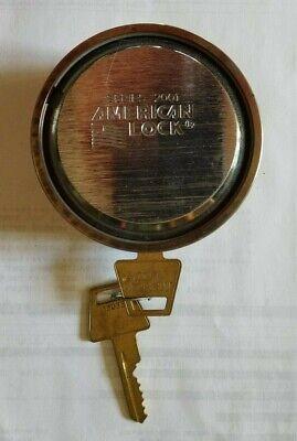American Lock Series 2001 2-78 Solid Steel Puck Padlock W Hidden Shackle Used