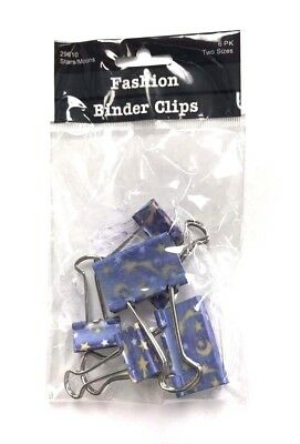 Metal Fashion Binder Clips School Office 12 Clips Small Large 2 Packs 29610