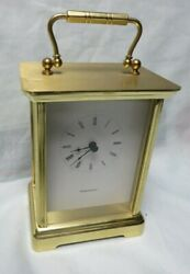 Vintage TIFFANY & CO. Desk Carriage Clock. Brass, WORKS,PORTFOLIO,GERMANY
