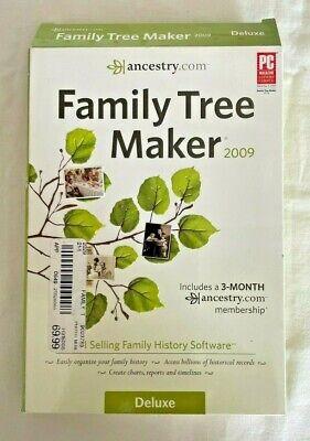 Ancestry Family Tree Maker Deluxe 2009