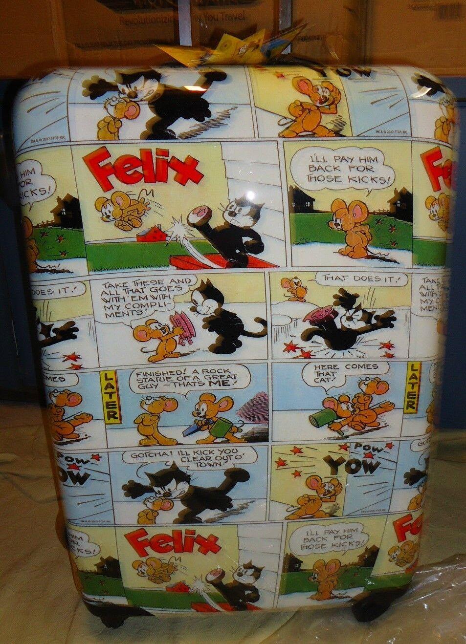 Luggage NEW Visionair Felix the Cat Comic Book'D Hardside Sp