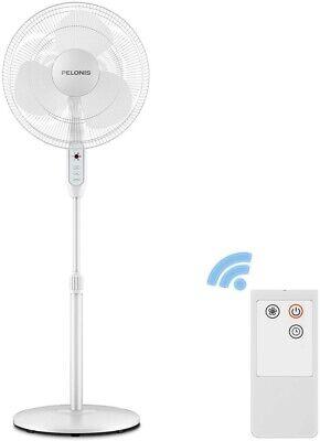 PELONIS 16-Inch 3-Speed Oscillating Pedestal Fan with Remote Control 16' Remote Control Pedestal