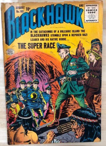 BLACKHAWK #103 (1956) Quality Comics VG+
