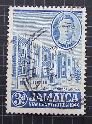 Jamaica SG136a 1946 3d Ultramarine  Perf 13    FU