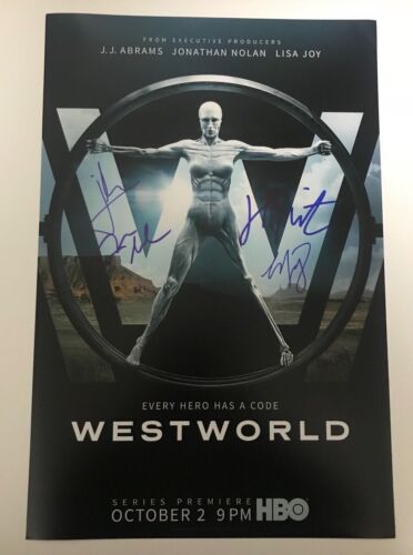 * WESTWORLD * signed autographed 12x18 photo poster * WRIGHT, NOLAN, MARSDEN * 2