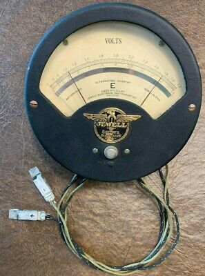 Antique Jewell Type E Pattern 30 Alternating Current Voltmeter Meter Face Is 7