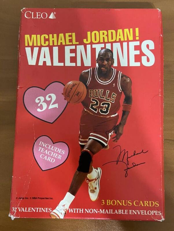 Vintage Michael Jordan Chicago Bulls Valentines Day Cards Cleo New Unopened