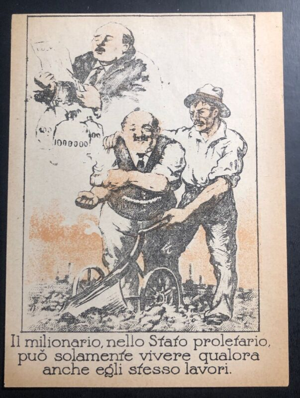 Original Germany WW1 Leaflet Drooped On To Italy Pro Communist Fight For Equal