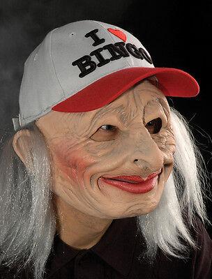 Funny Bingo Grandma Lady Old Woman Female Scary Halloween Costume - Halloween Mask Old Lady