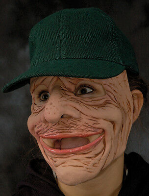 Old Man Dry Sack Funny Scary Zagone Studios Adult Latex Halloween Mask & Cap - Zagone Studios Halloween Masks