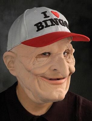 Funny Bingo Grandpa Old Man Scary Adult Halloween Costume Mask