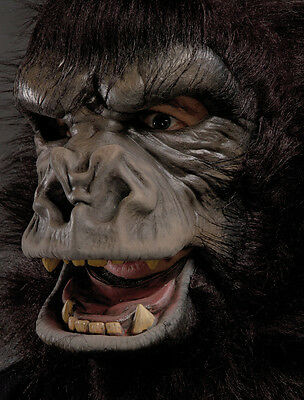 Two Bit Roar Gorilla Great Ape Costume Adult Halloween Mask Movimg Mouth