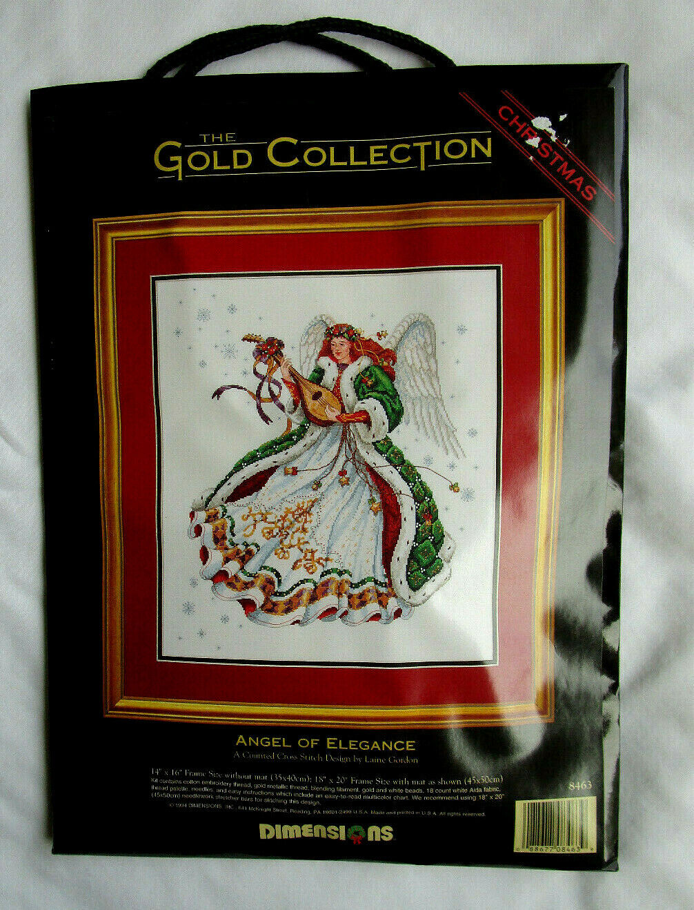 "Dimensions Gold Christmas ""Angel Of Elegance"" Counted Cross"
